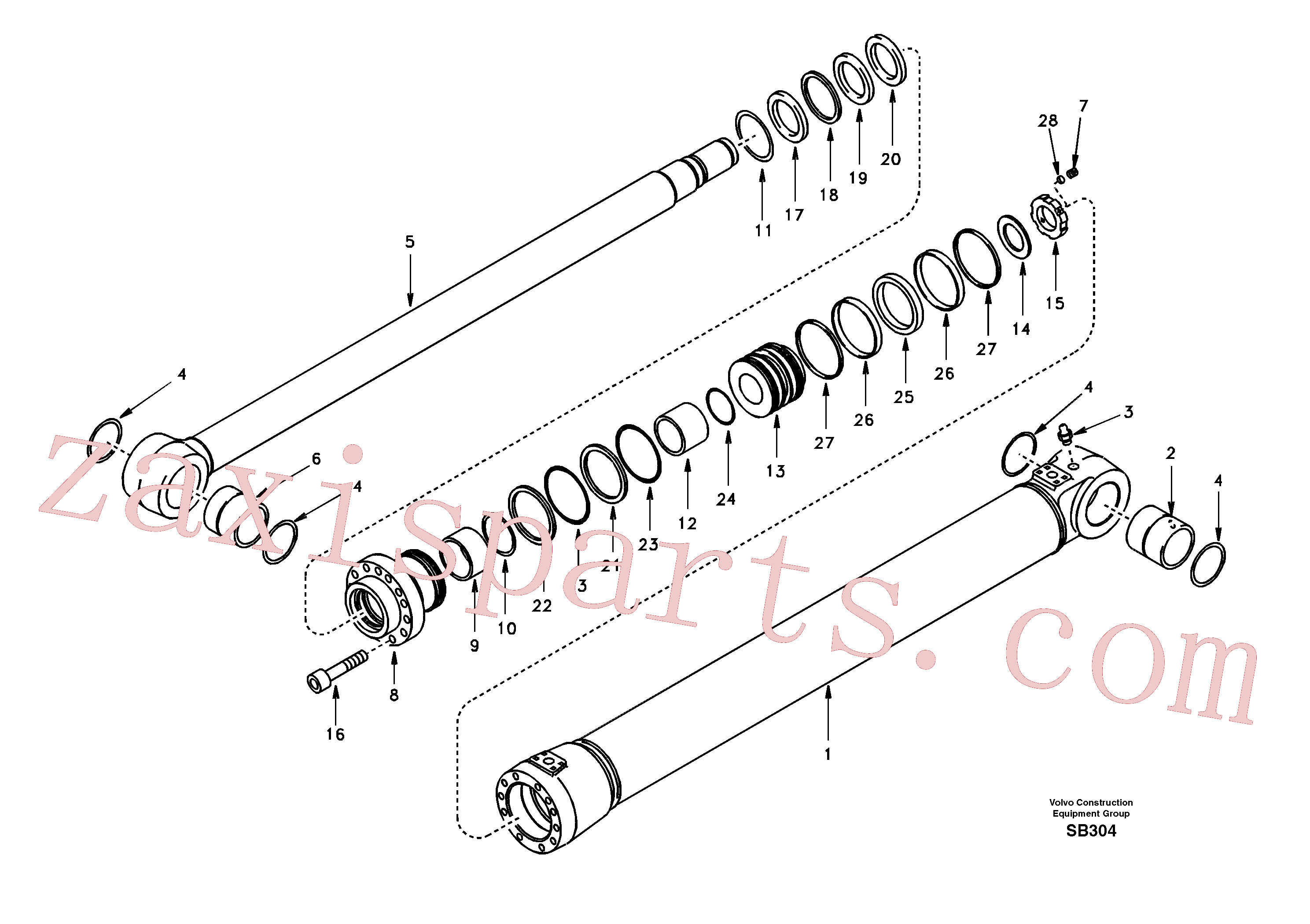 SA1146-03680 for Volvo Boom cylinder(SB304 assembly)