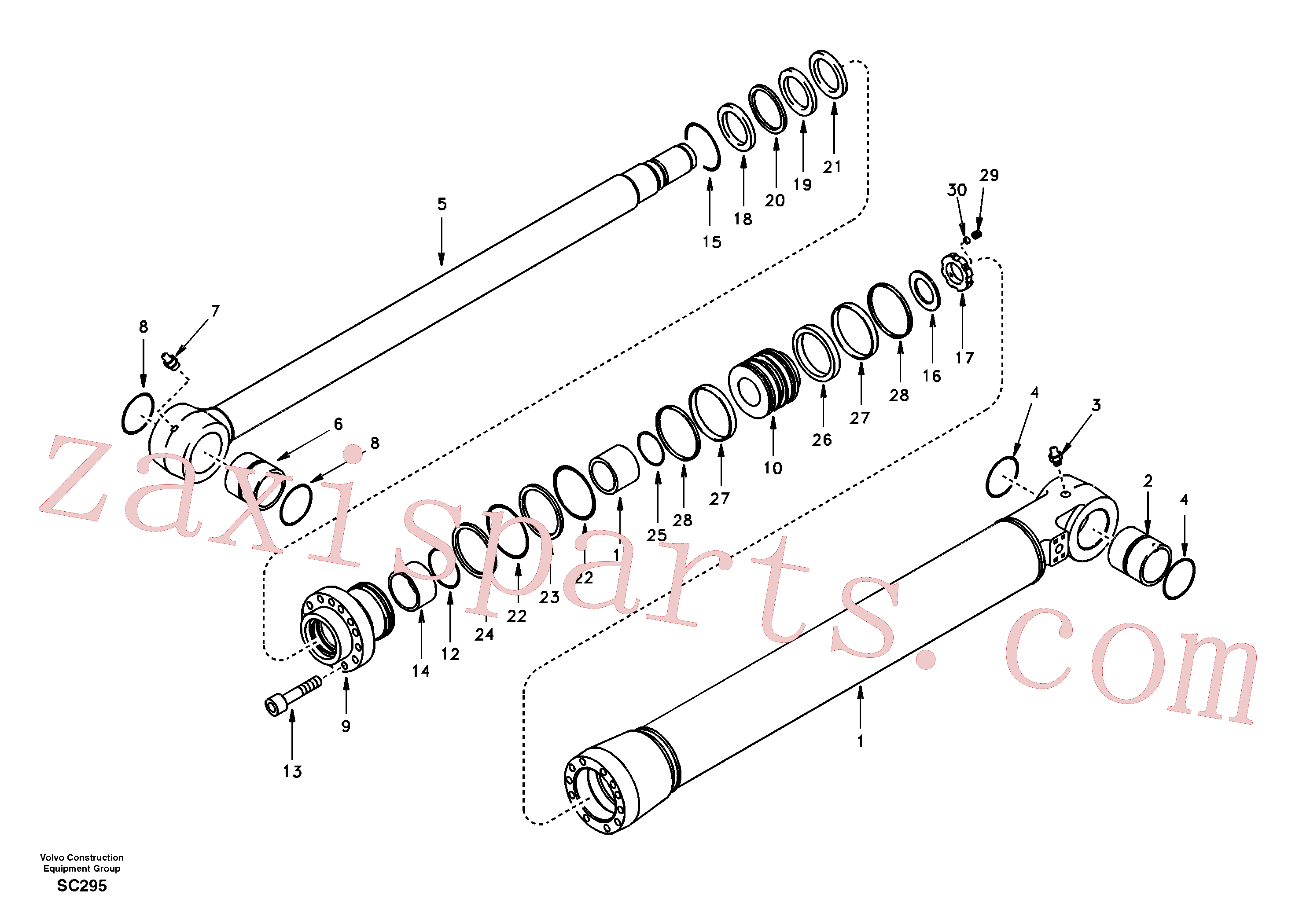 SA1146-08430 for Volvo Bucket cylinder(SC295 assembly)