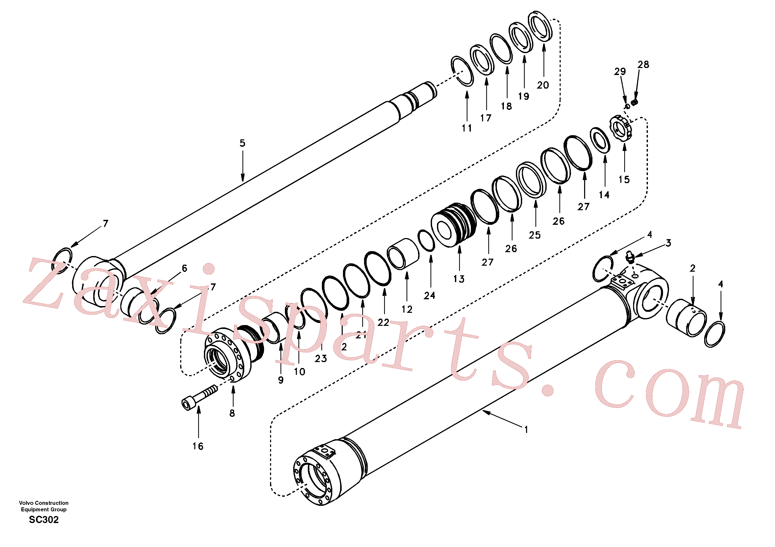 SA14501134 for Volvo Boom cylinder(SC302 assembly)