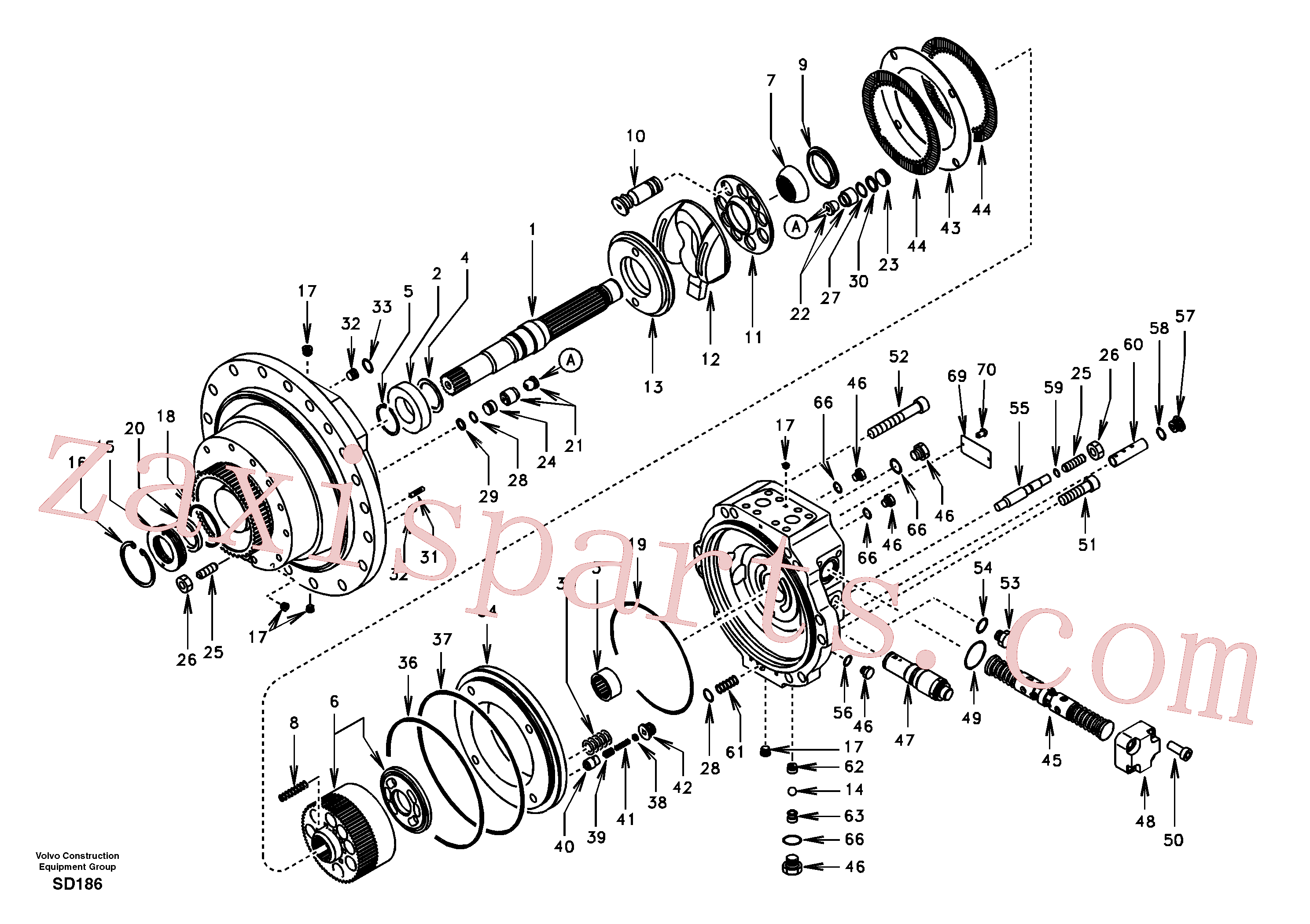 SA7242-10710 for Volvo Travel motor(SD186 assembly)