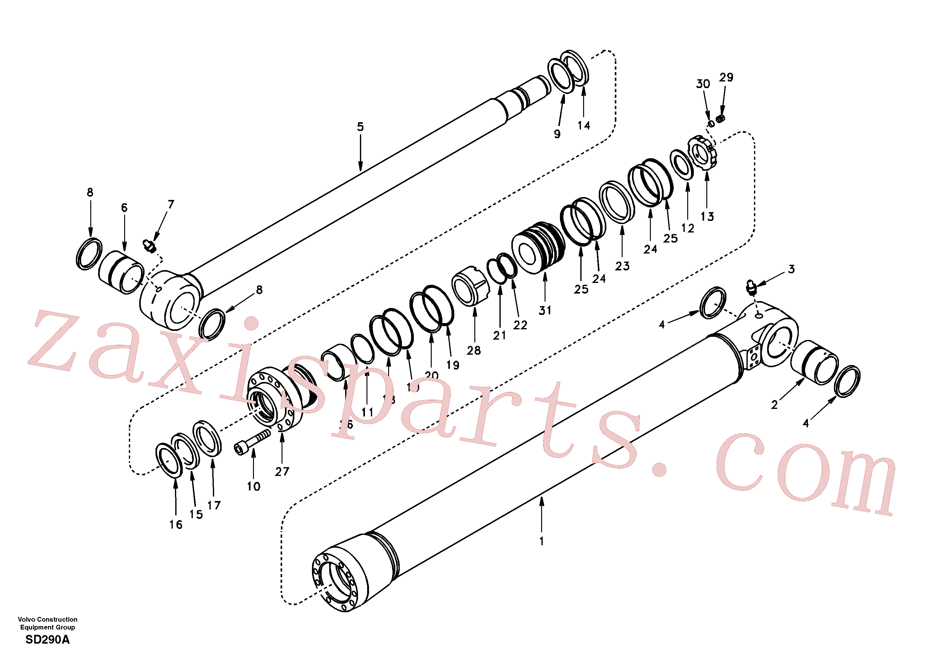 VOE14510424 for Volvo Bucket cylinder(SD290A assembly)