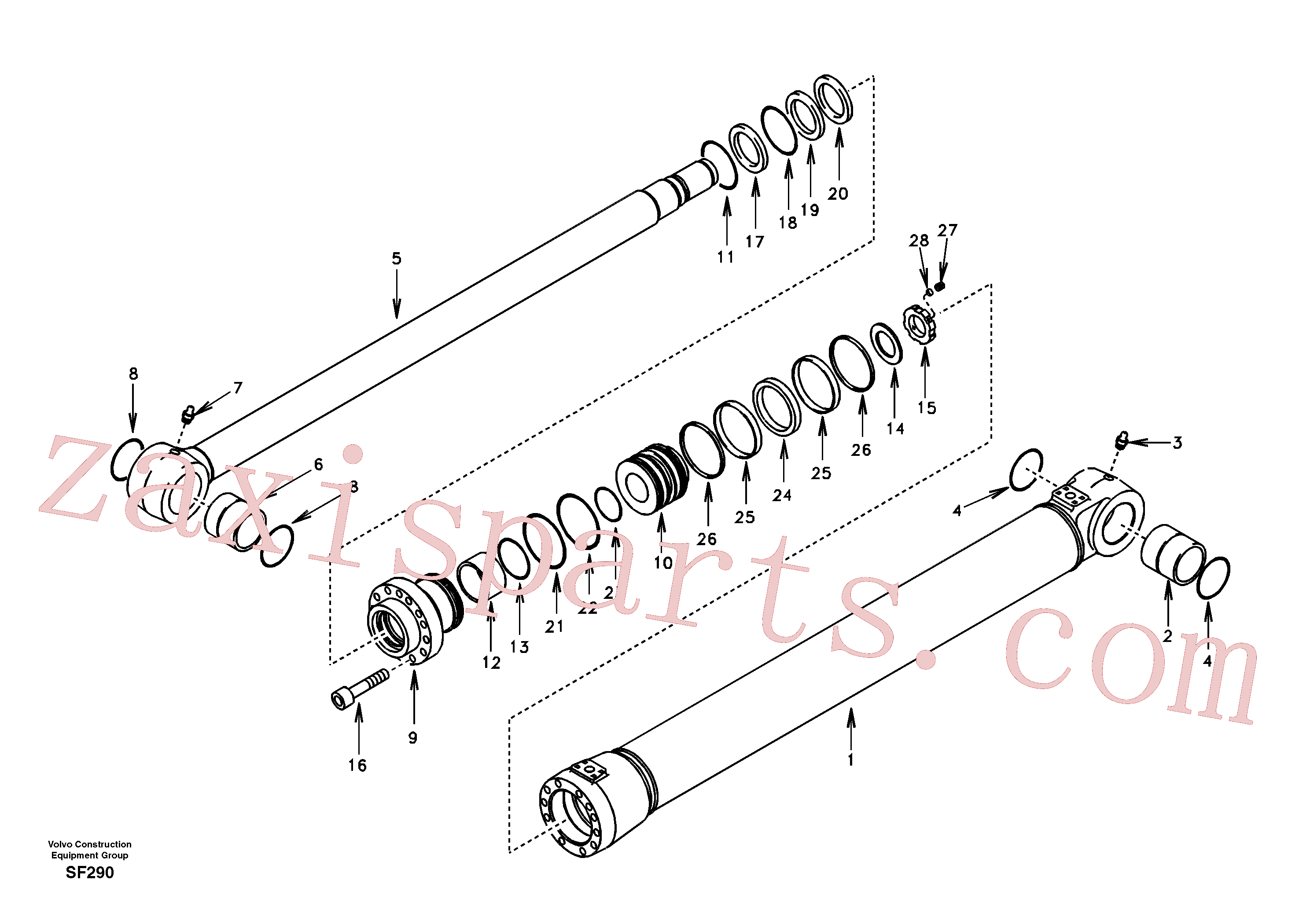 SA1146-05630 for Volvo Bucket cylinder(SF290 assembly)