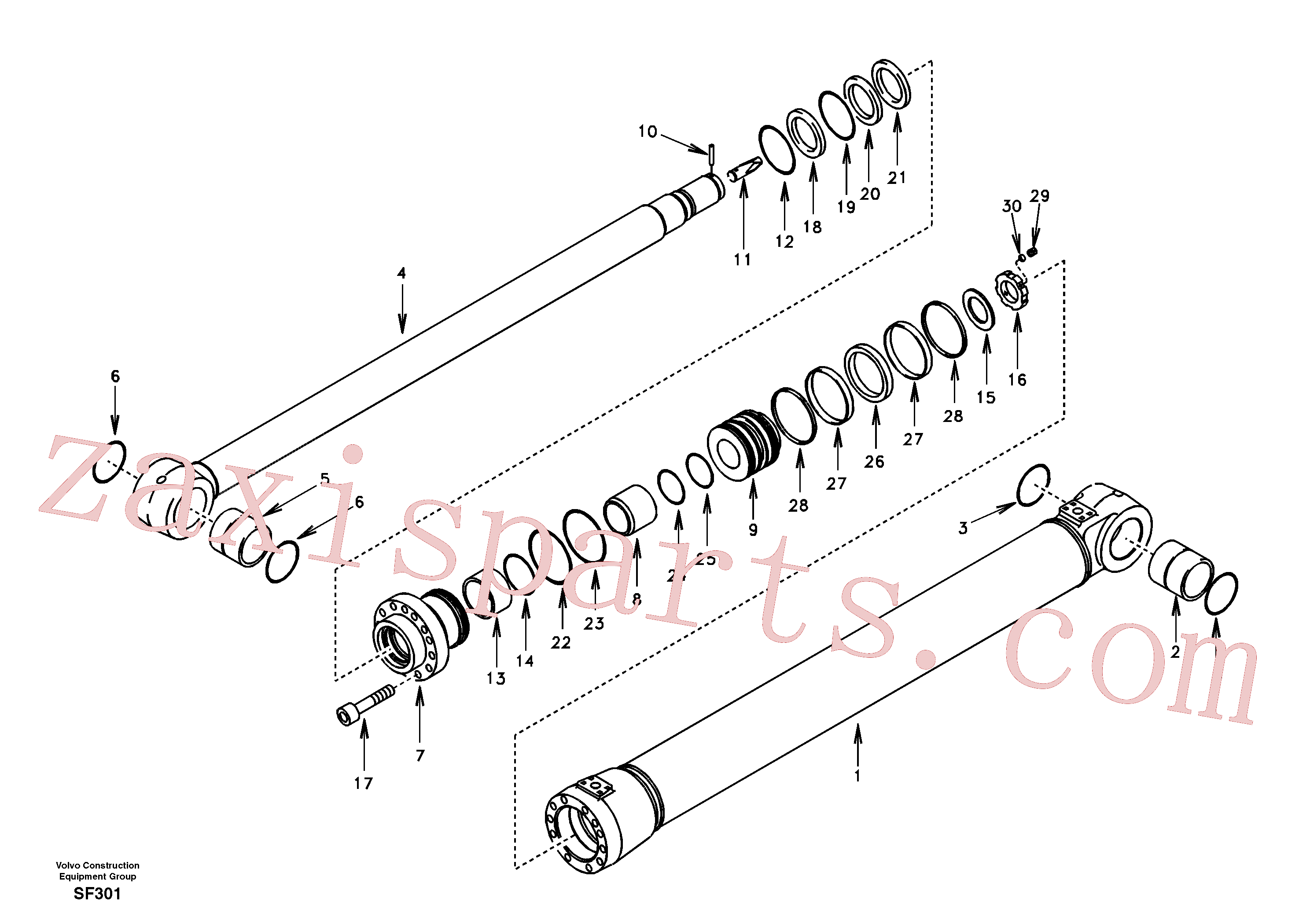SA1146-08160 for Volvo Dipper arm cylinder(SF301 assembly)
