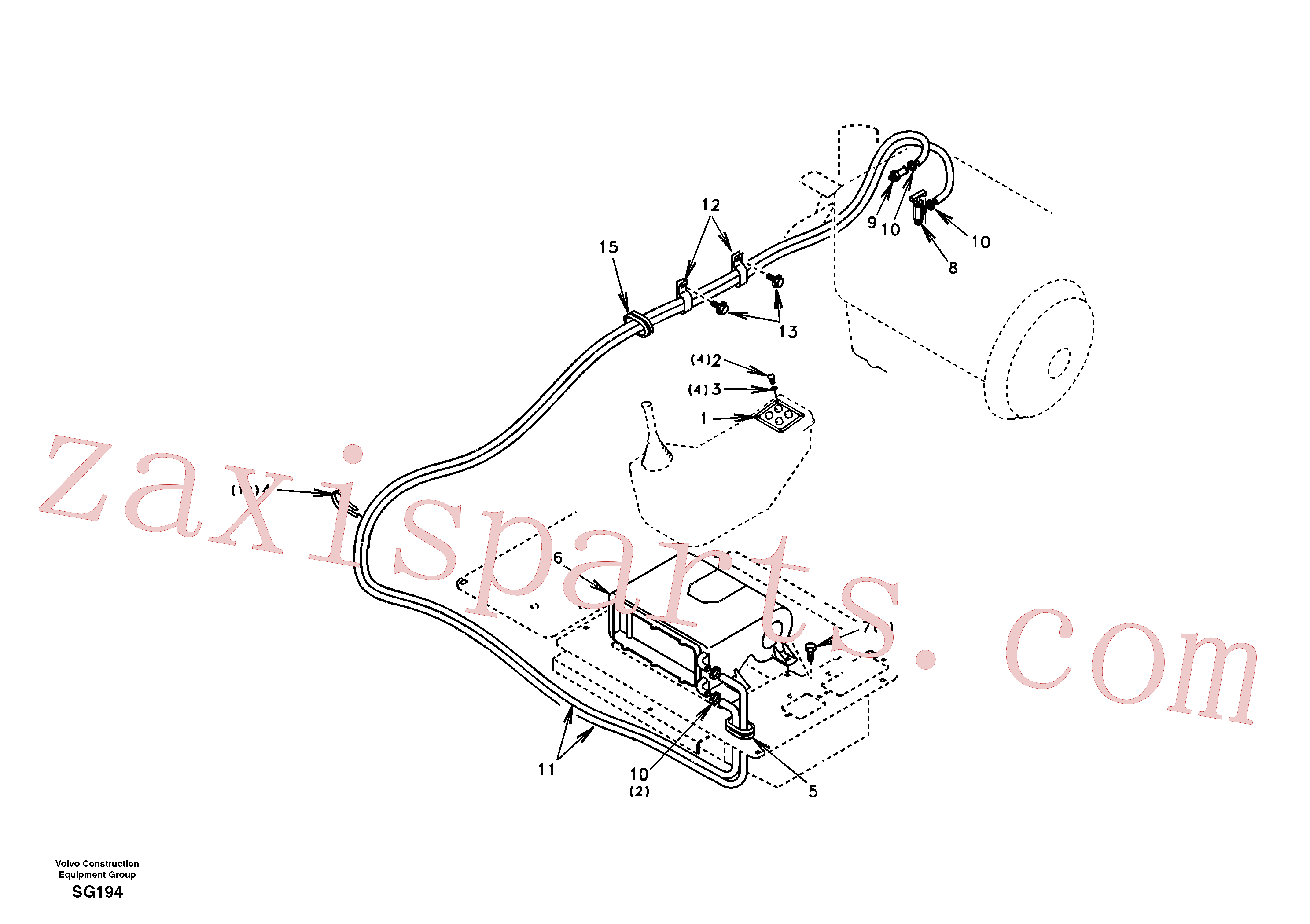 SA1020-02081 for Volvo Heating line(SG194 assembly)