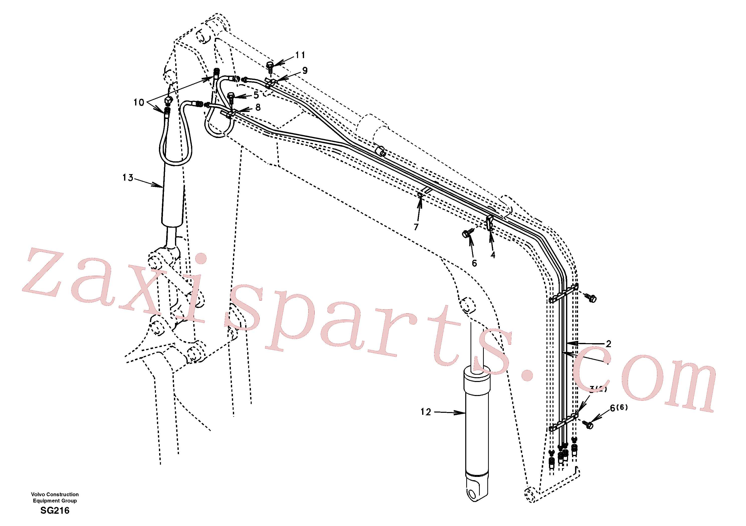SA1174-30012 for Volvo Working hydraulic, boom(SG216 assembly)
