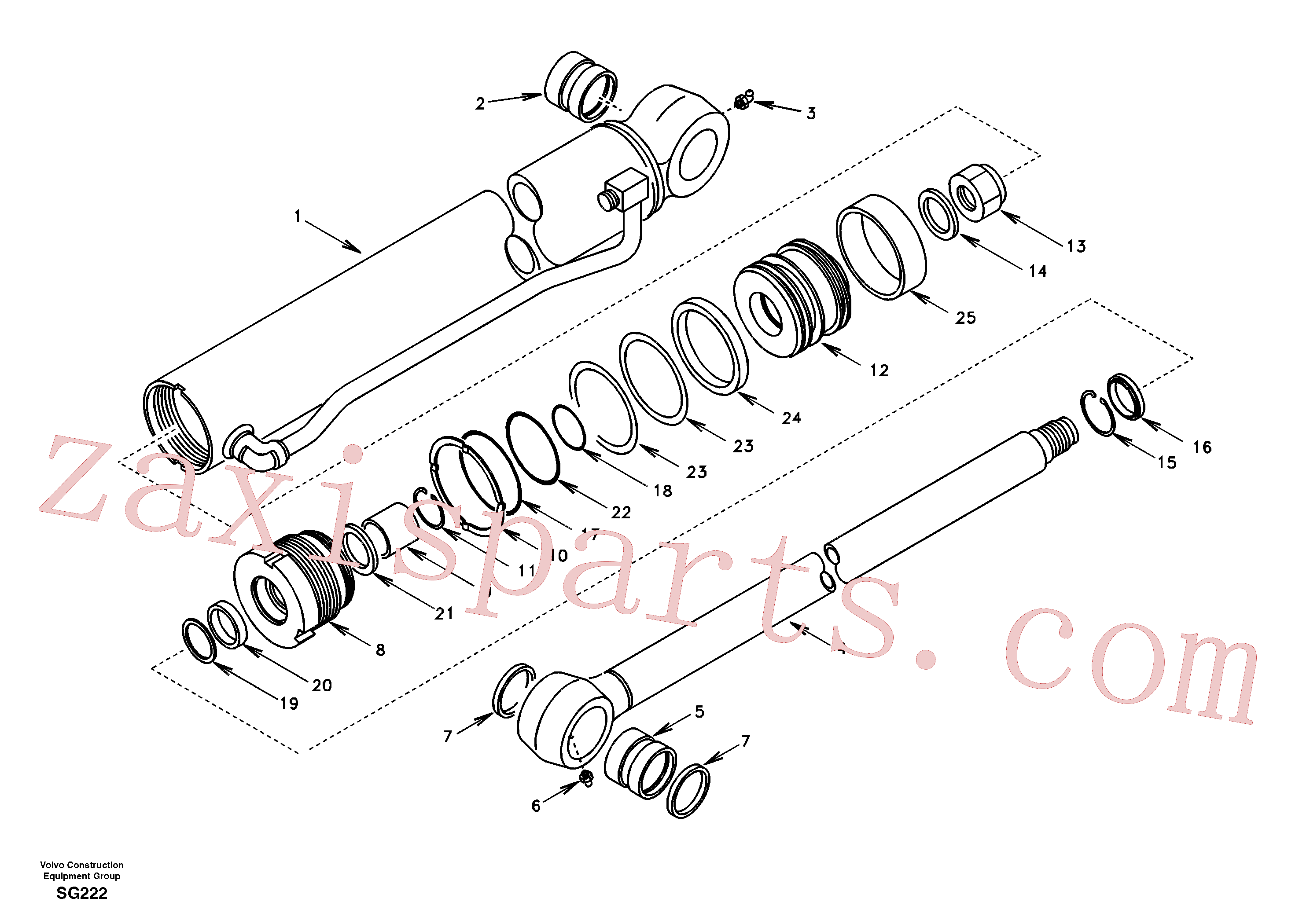VOE990608 for Volvo Bucket cylinder(SG222 assembly)