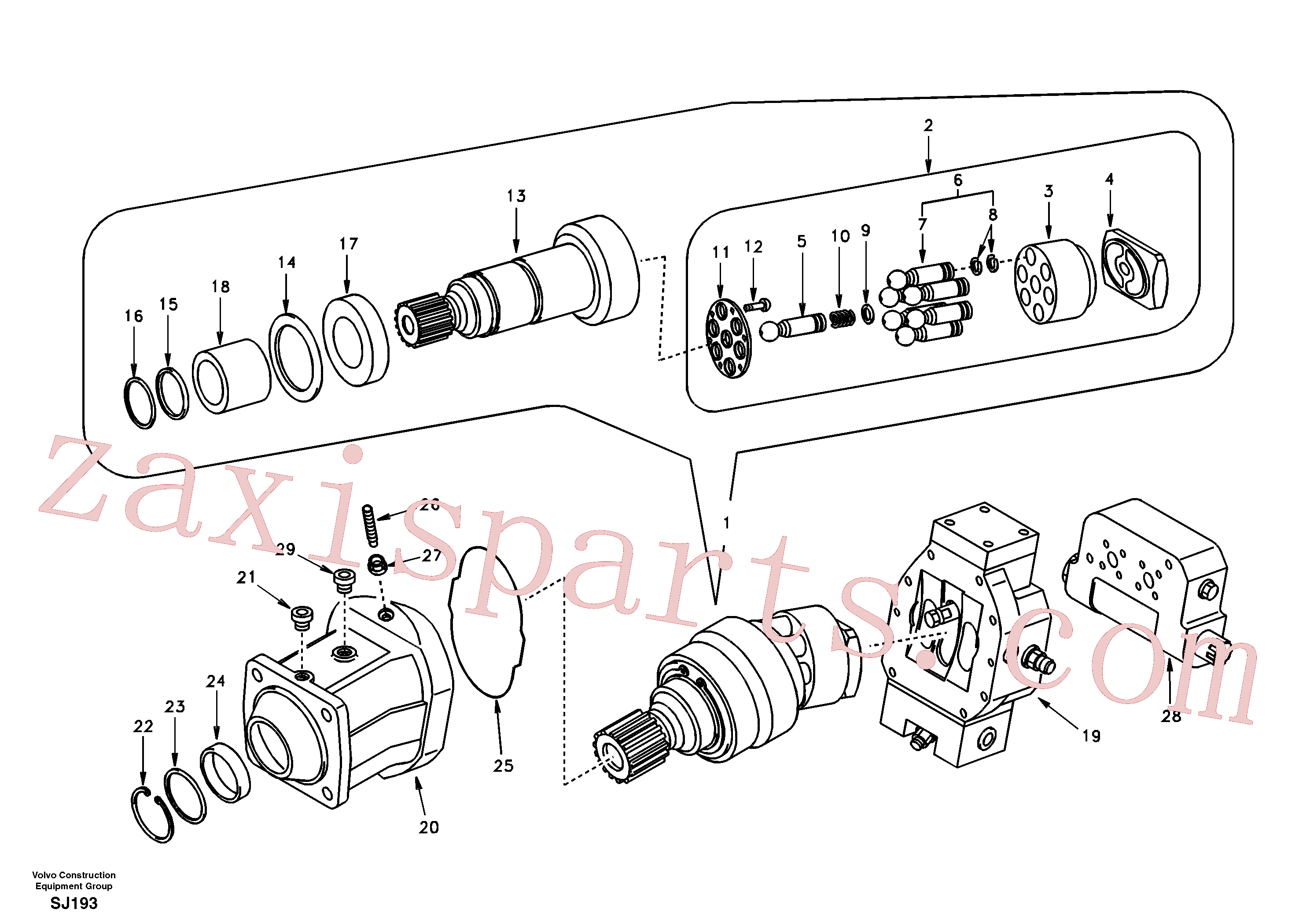 SA8230-30270 for Volvo Travel motor(SJ193 assembly)