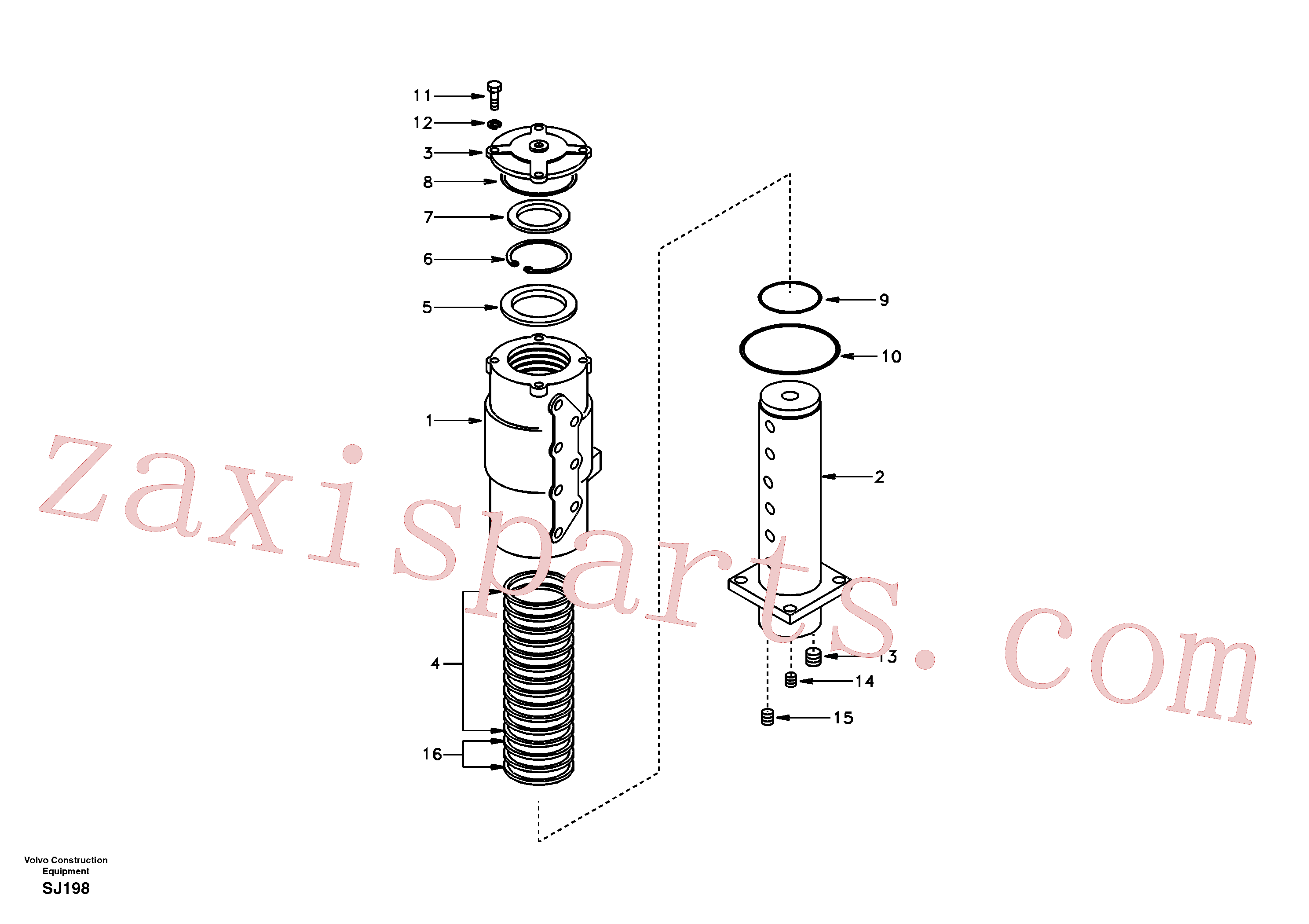 SA1046-00620 for Volvo Turning joint(SJ198 assembly)