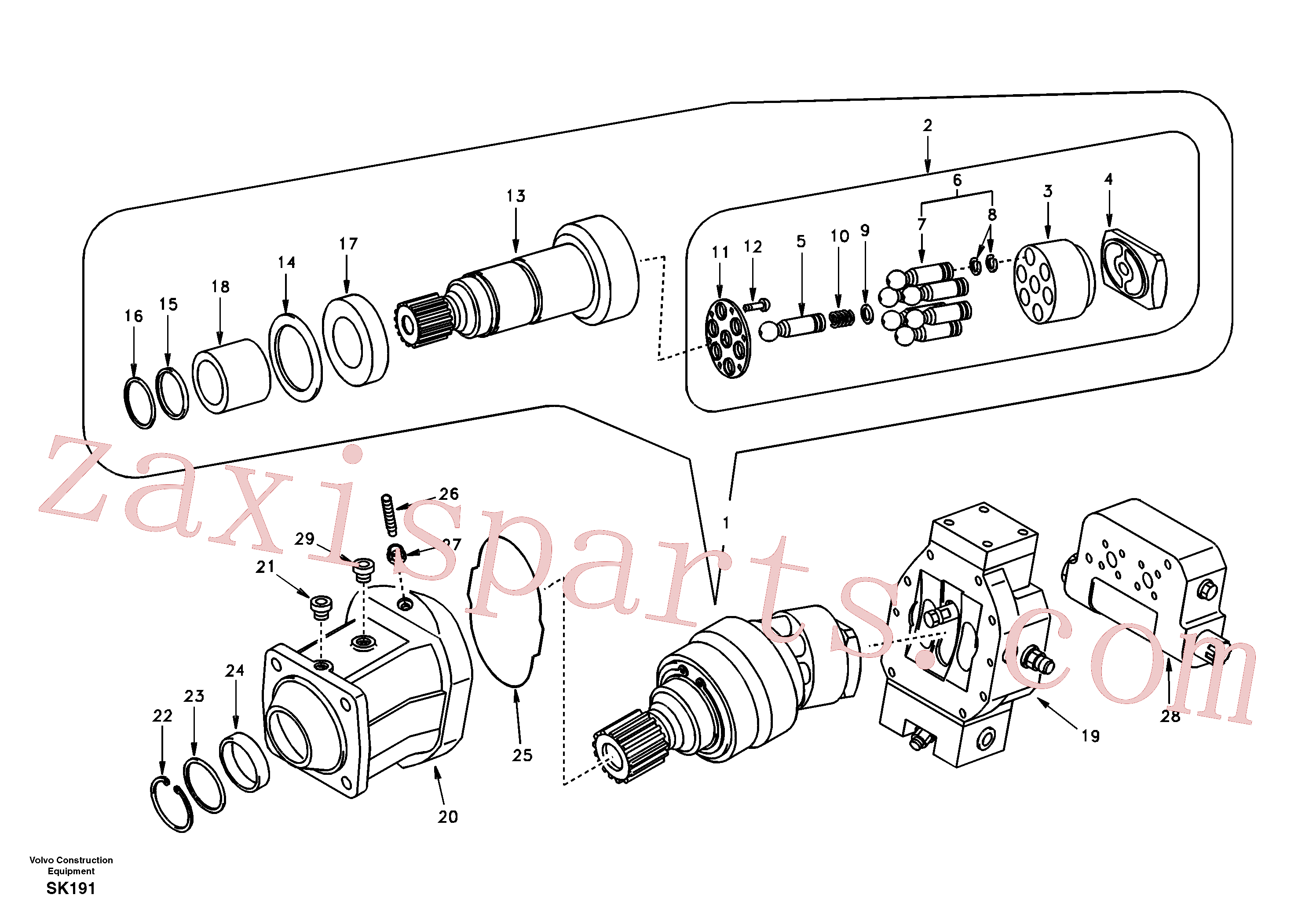 SA8230-30270 for Volvo Travel motor(SK191 assembly)