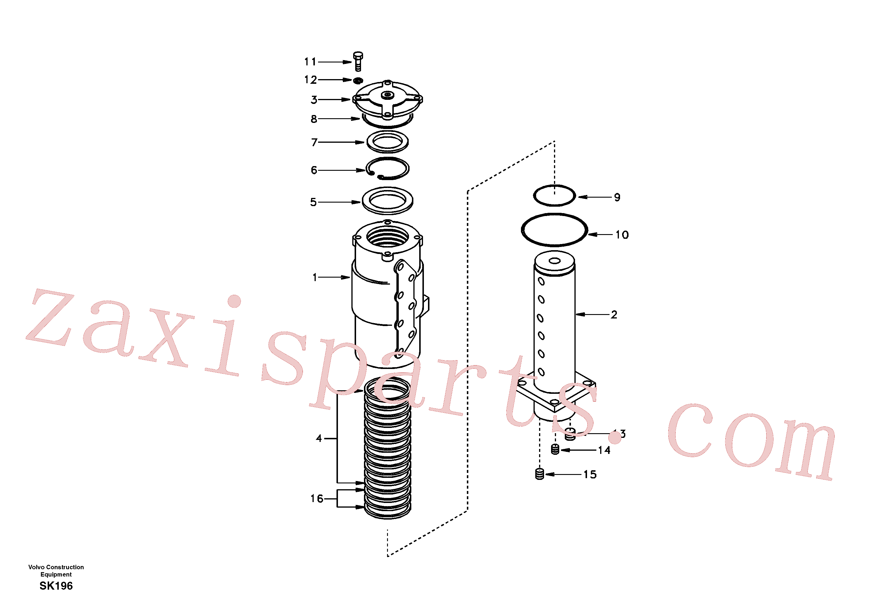SA1046-00620 for Volvo Turning joint(SK196 assembly)