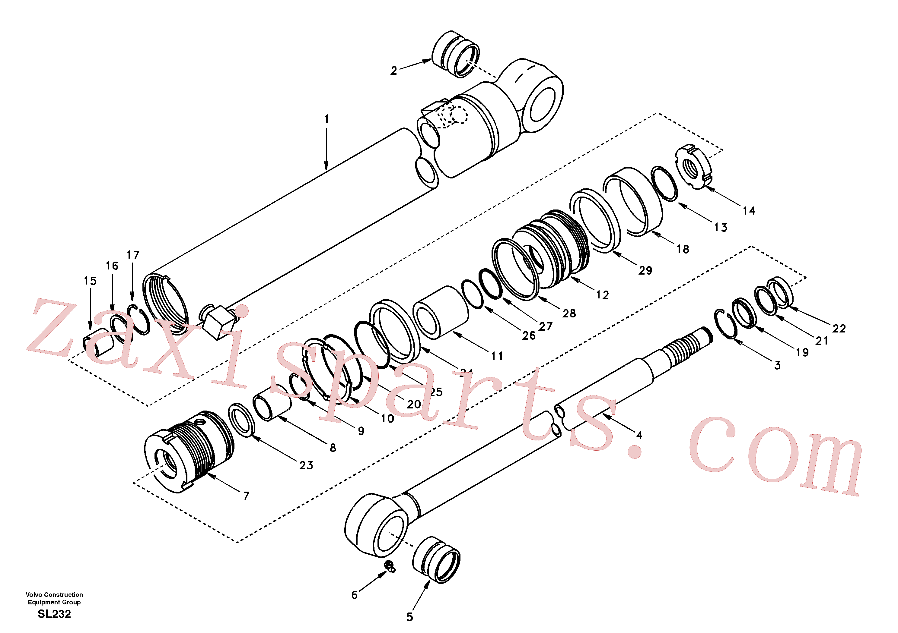 SA9564-20550 for Volvo Dipper arm cylinder(SL232 assembly)
