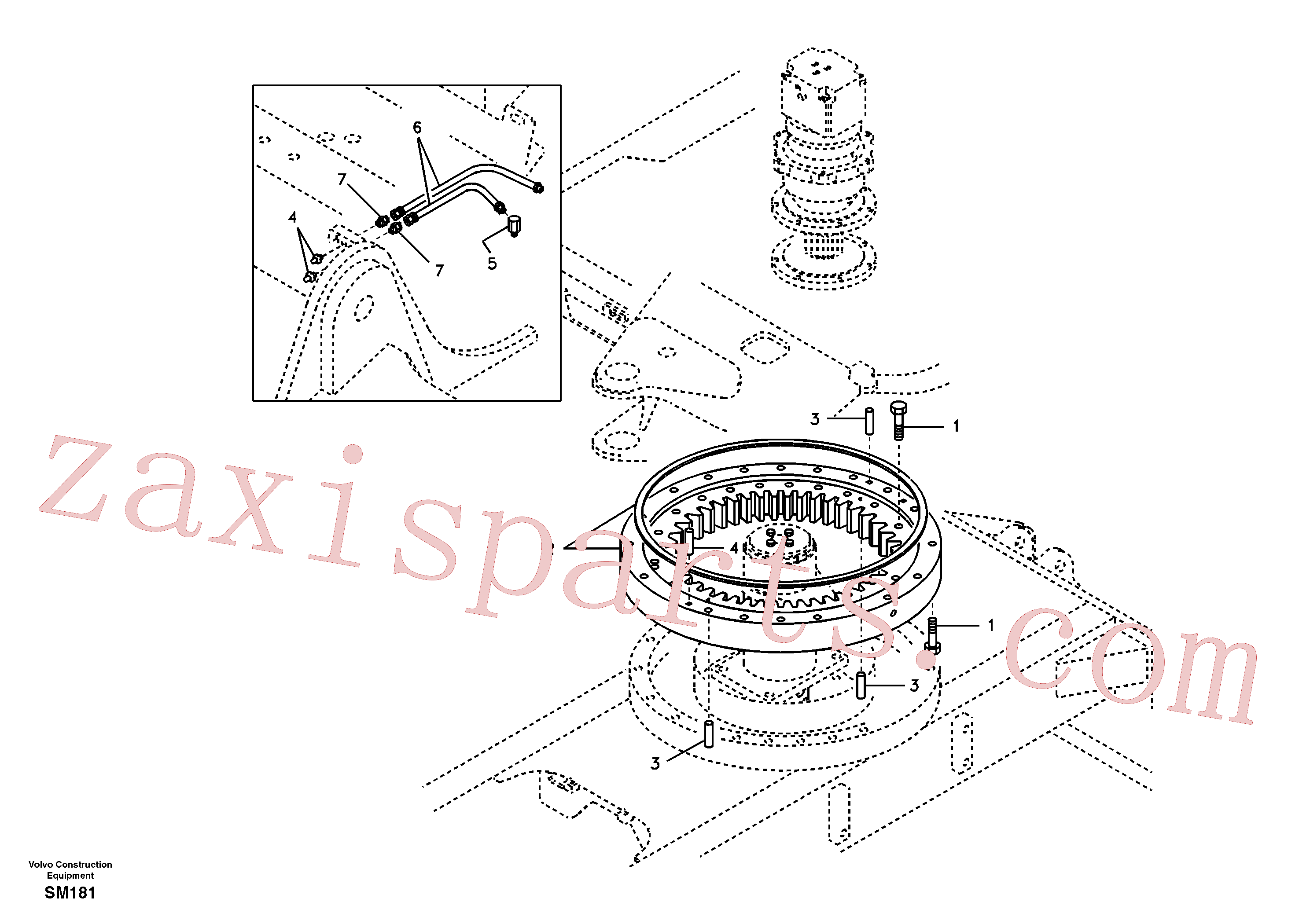 SA9412-43010 for Volvo Swing system(SM181 assembly)