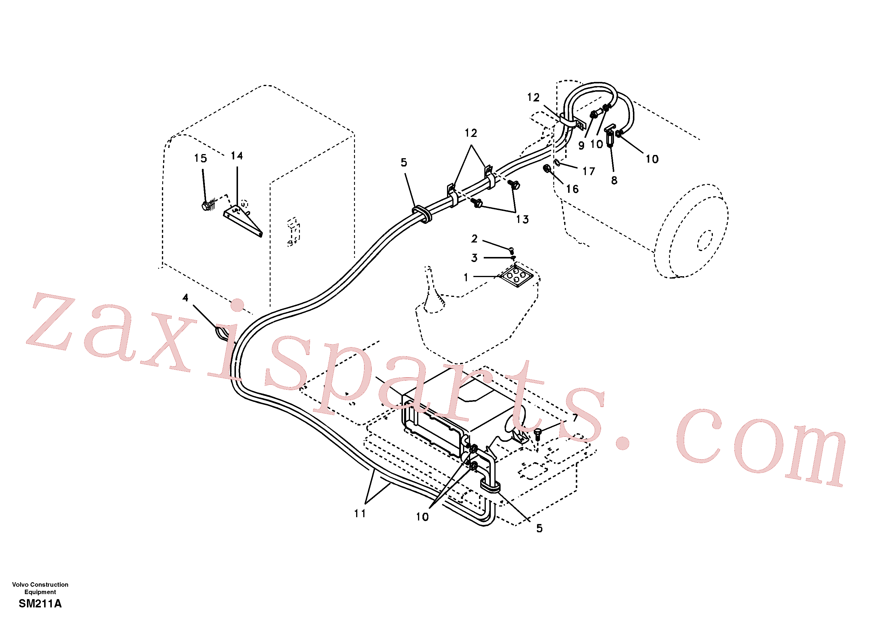 SA1020-02081 for Volvo Heating line(SM211A assembly)