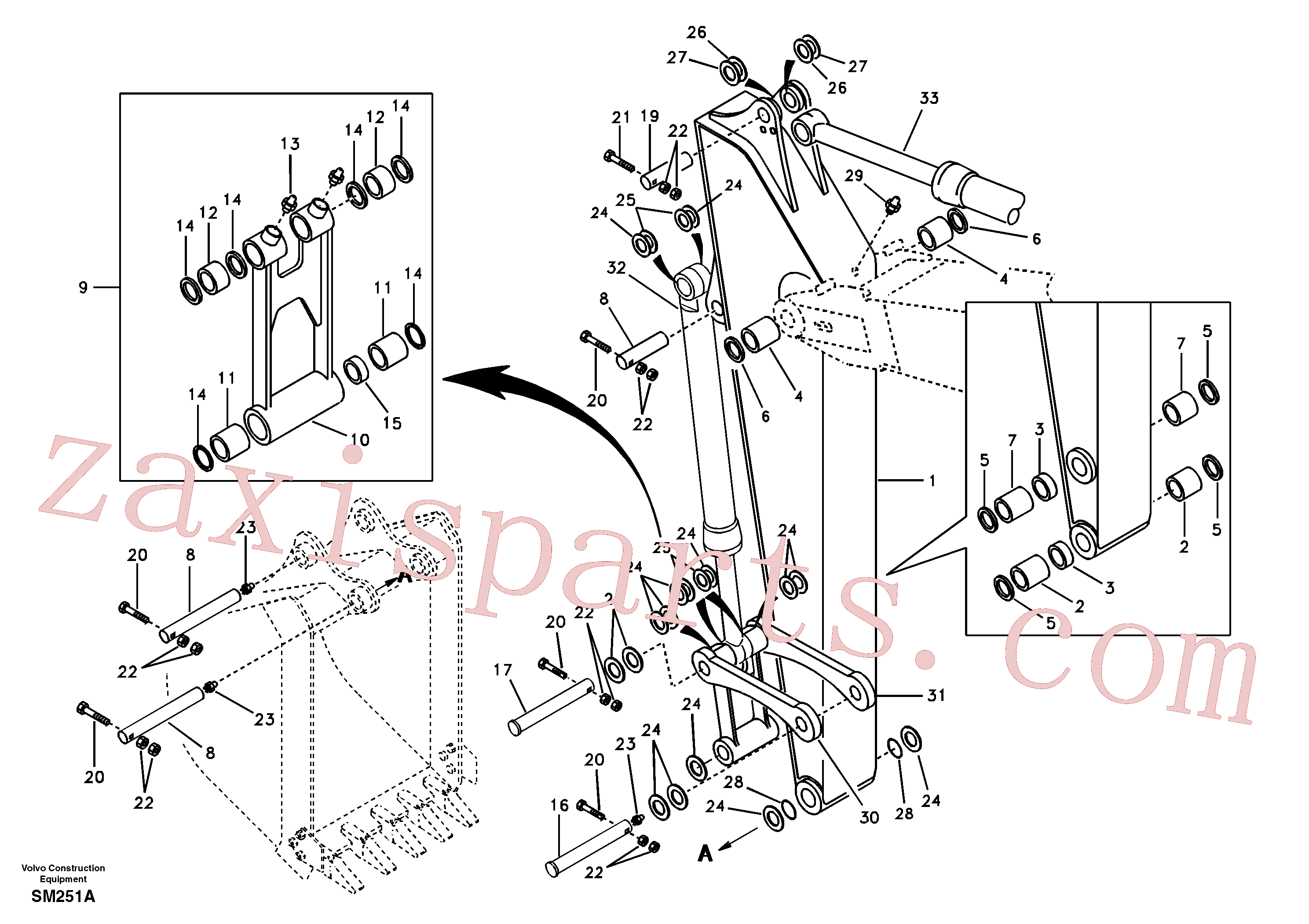VOE14513386 for Volvo Links to dipper arm(SM251A assembly)