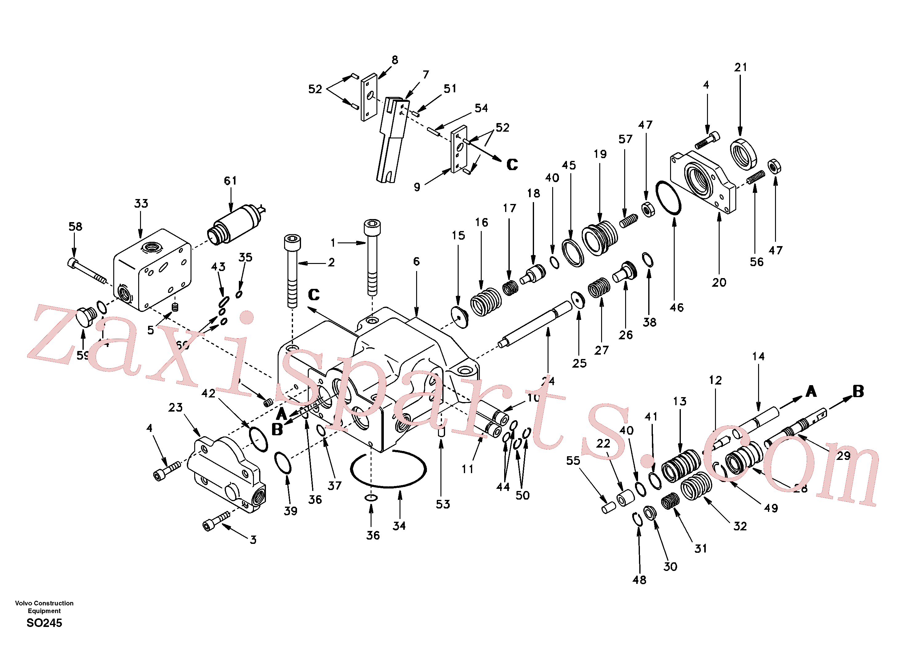 SA14501611 for Volvo Regulator, hydraulic pump(SO245 assembly)