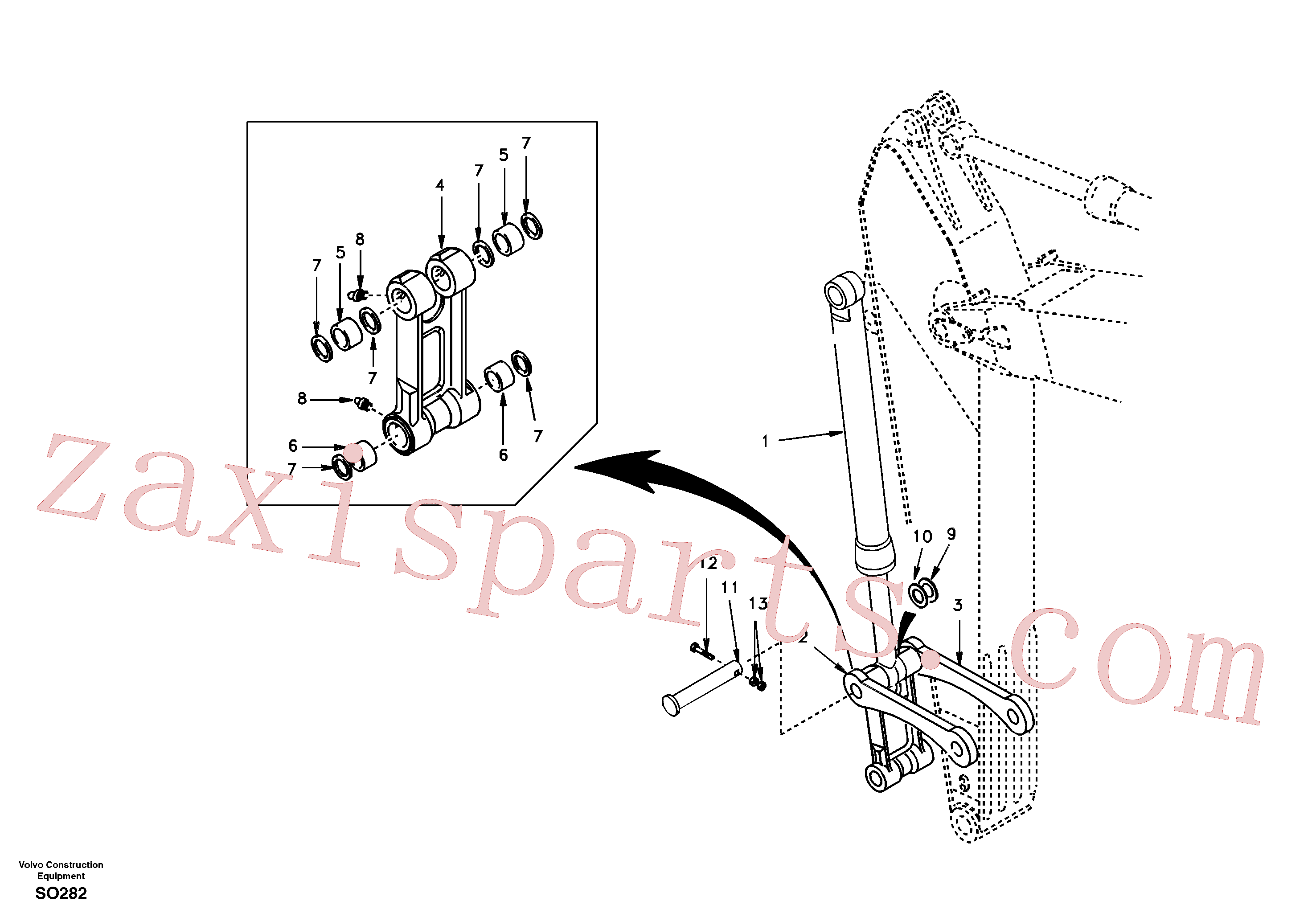 SA1172-05290 for Volvo Links to dipper arm(SO282 assembly)