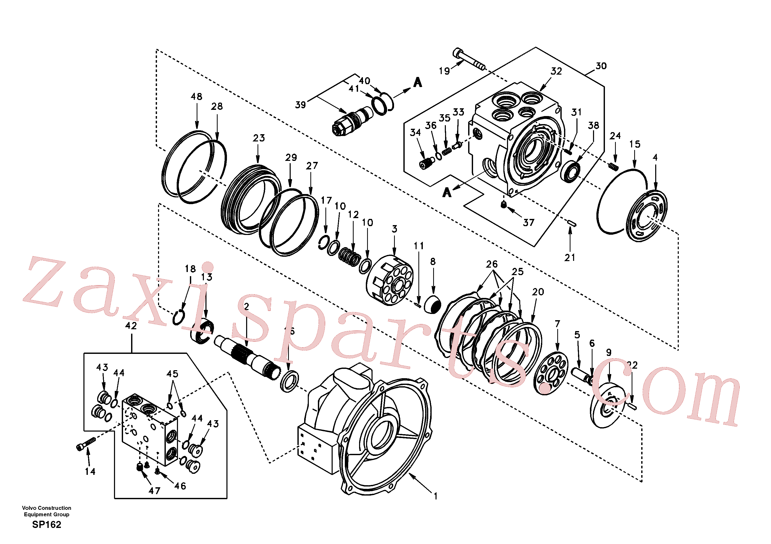 SA8230-31400 for Volvo Swing motor(SP162 assembly)
