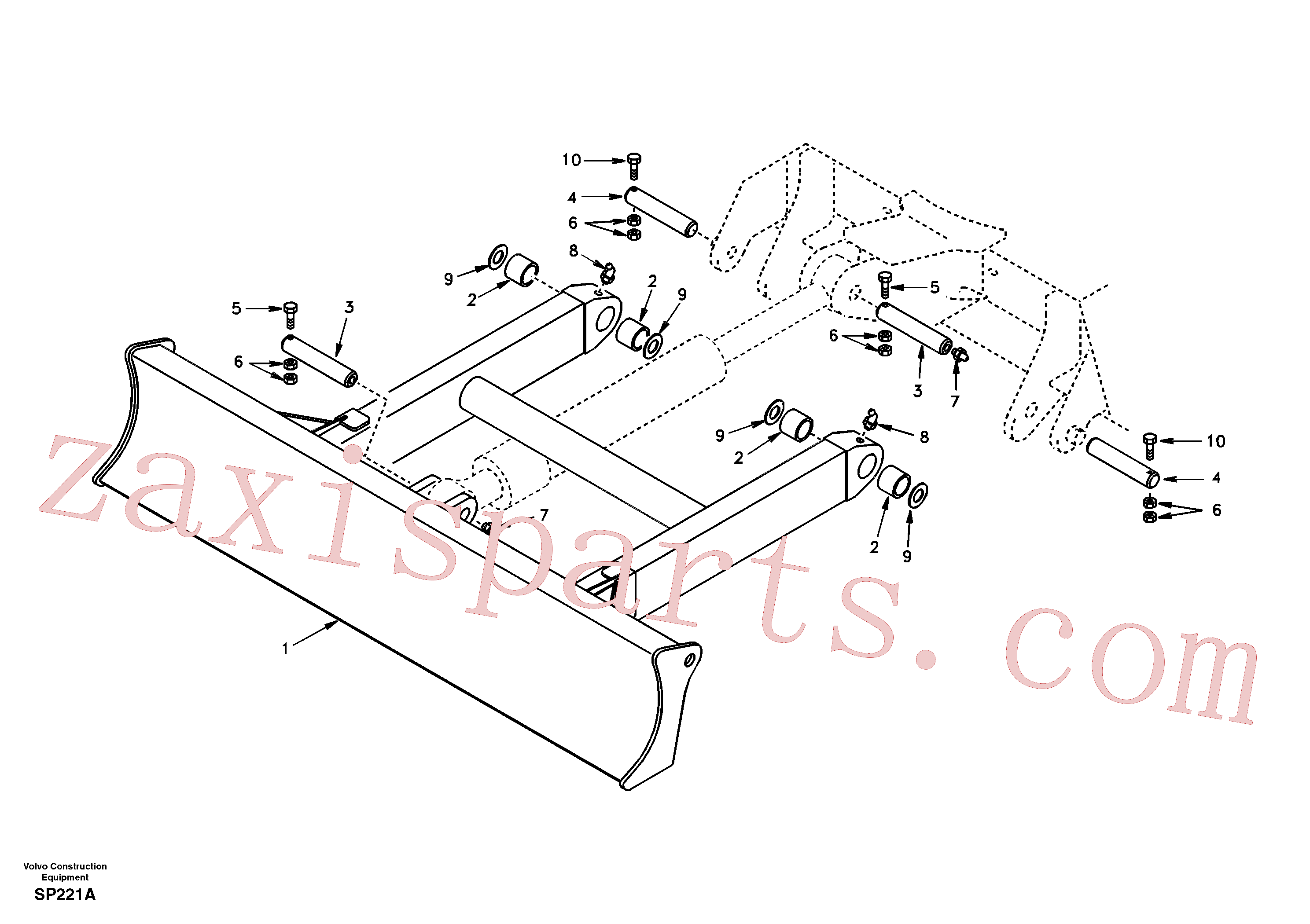 VOE14547125 for Volvo Dozer blade(SP221A assembly)