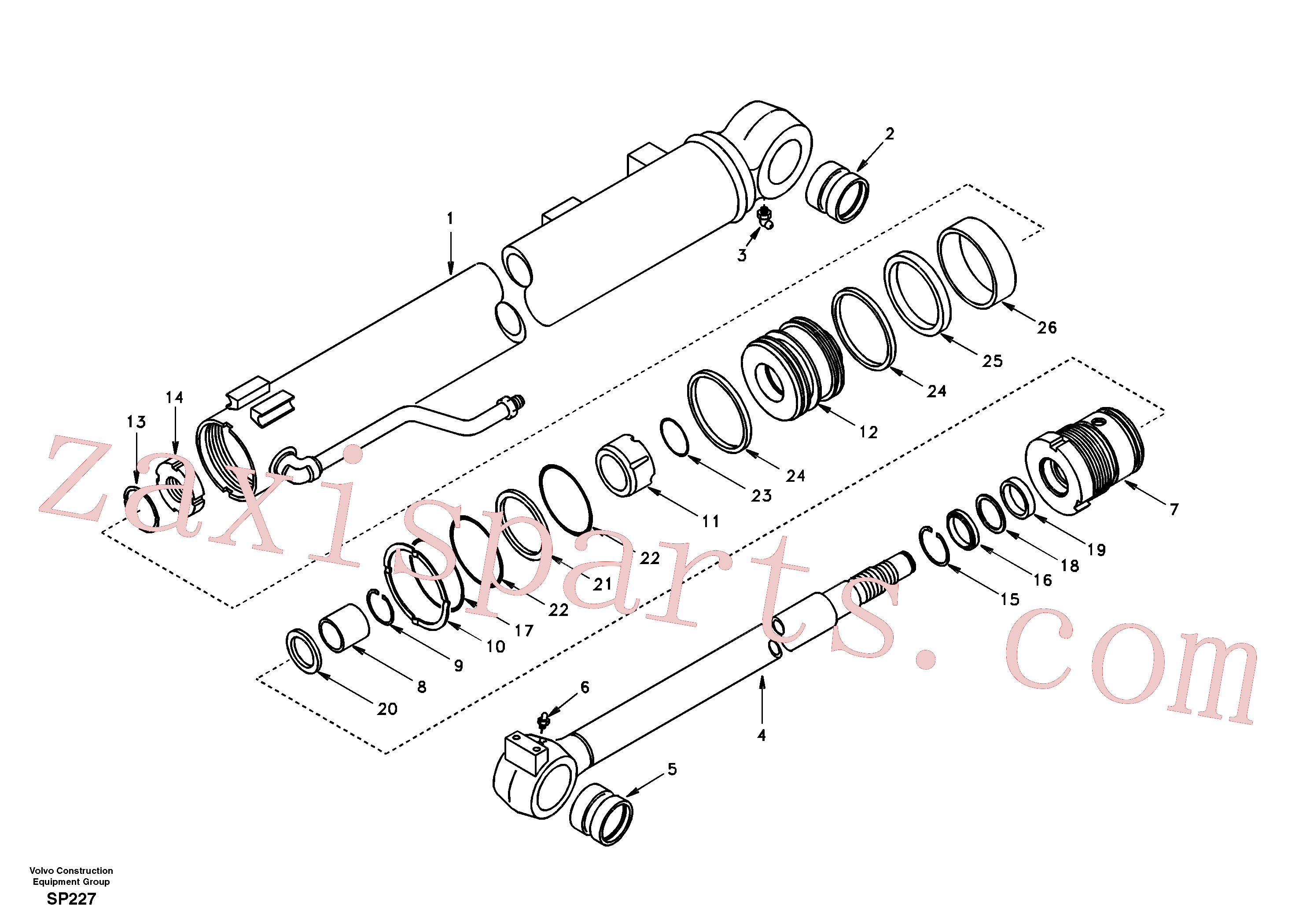 VOE14508000 for Volvo Boom cylinder(SP227 assembly)