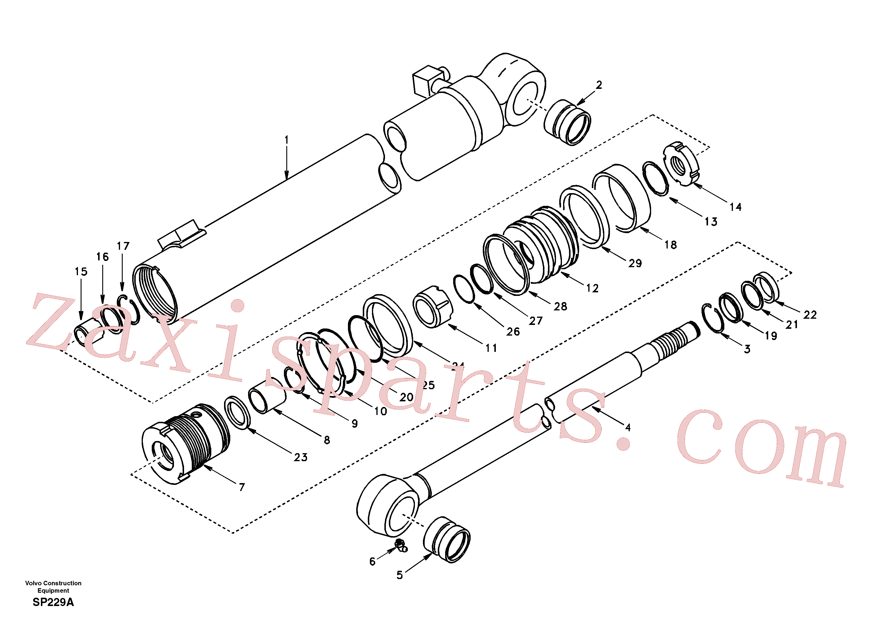 SA9564-20550 for Volvo Dipper arm cylinder(SP229A assembly)