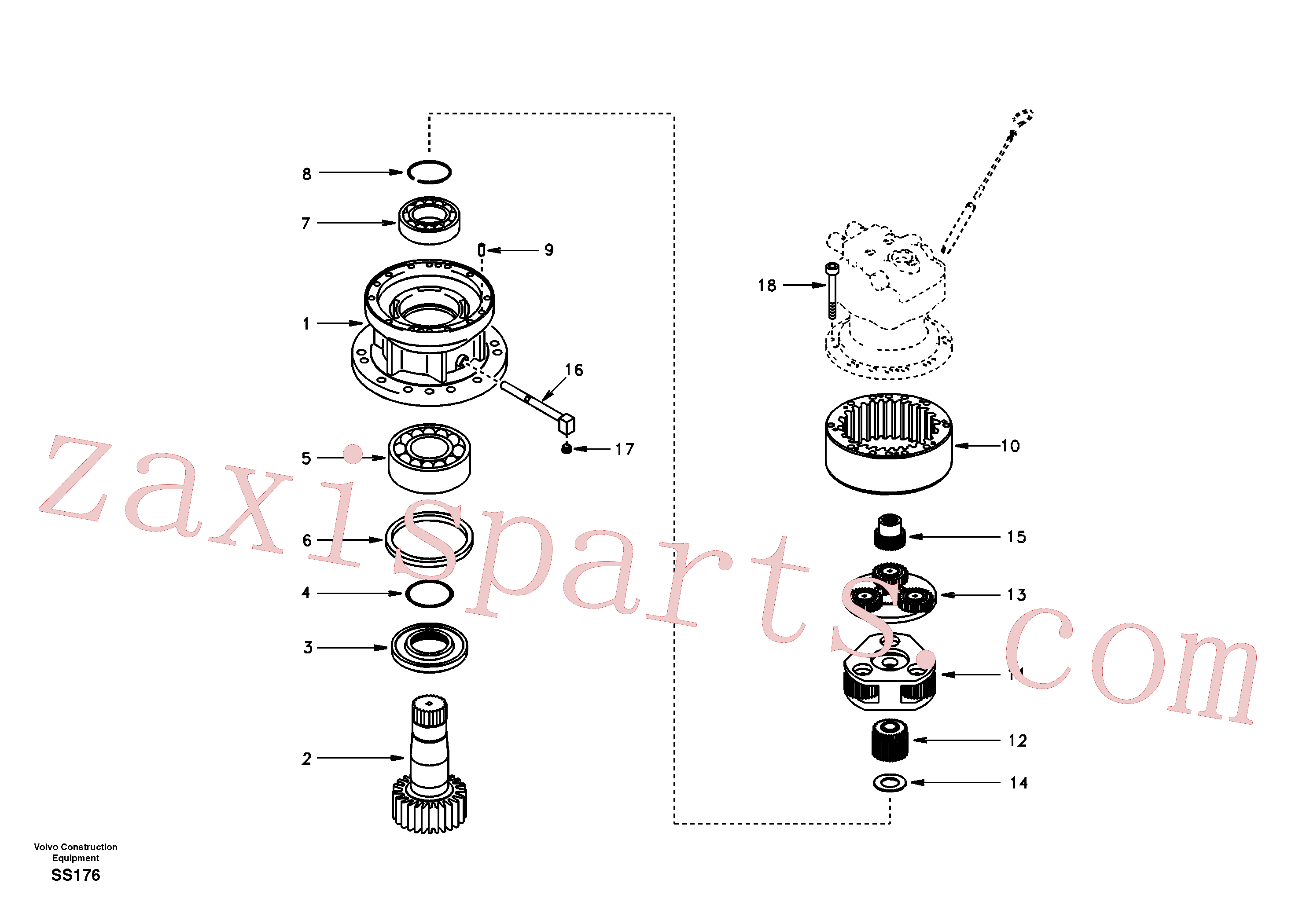 SA7118-23330 for Volvo Swing gearbox(SS176 assembly)