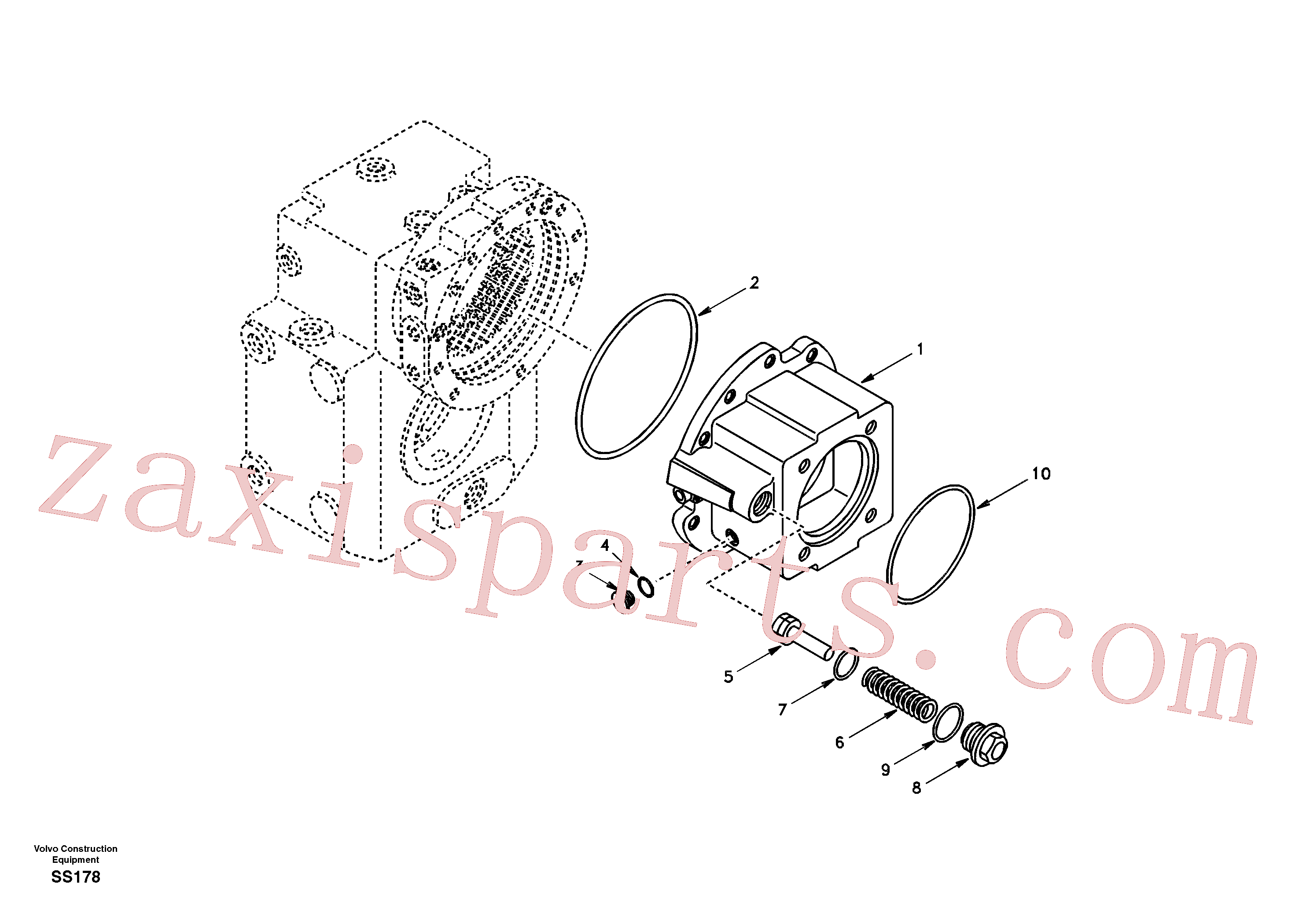 VOE11705119 for Volvo Input shaft, housing(SS178 assembly)