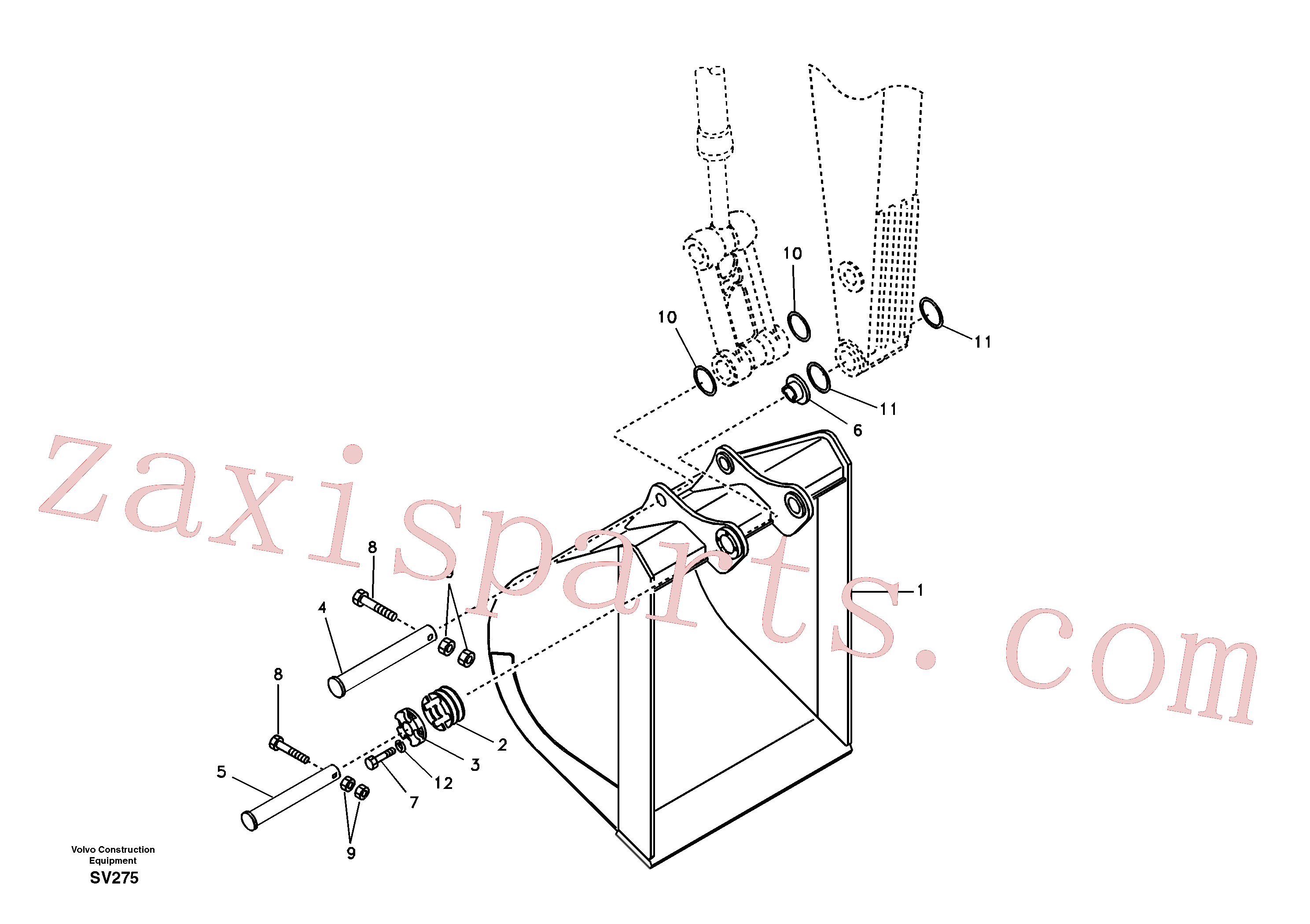 VOE966851 for Volvo Buckets for long reach(SV275 assembly)