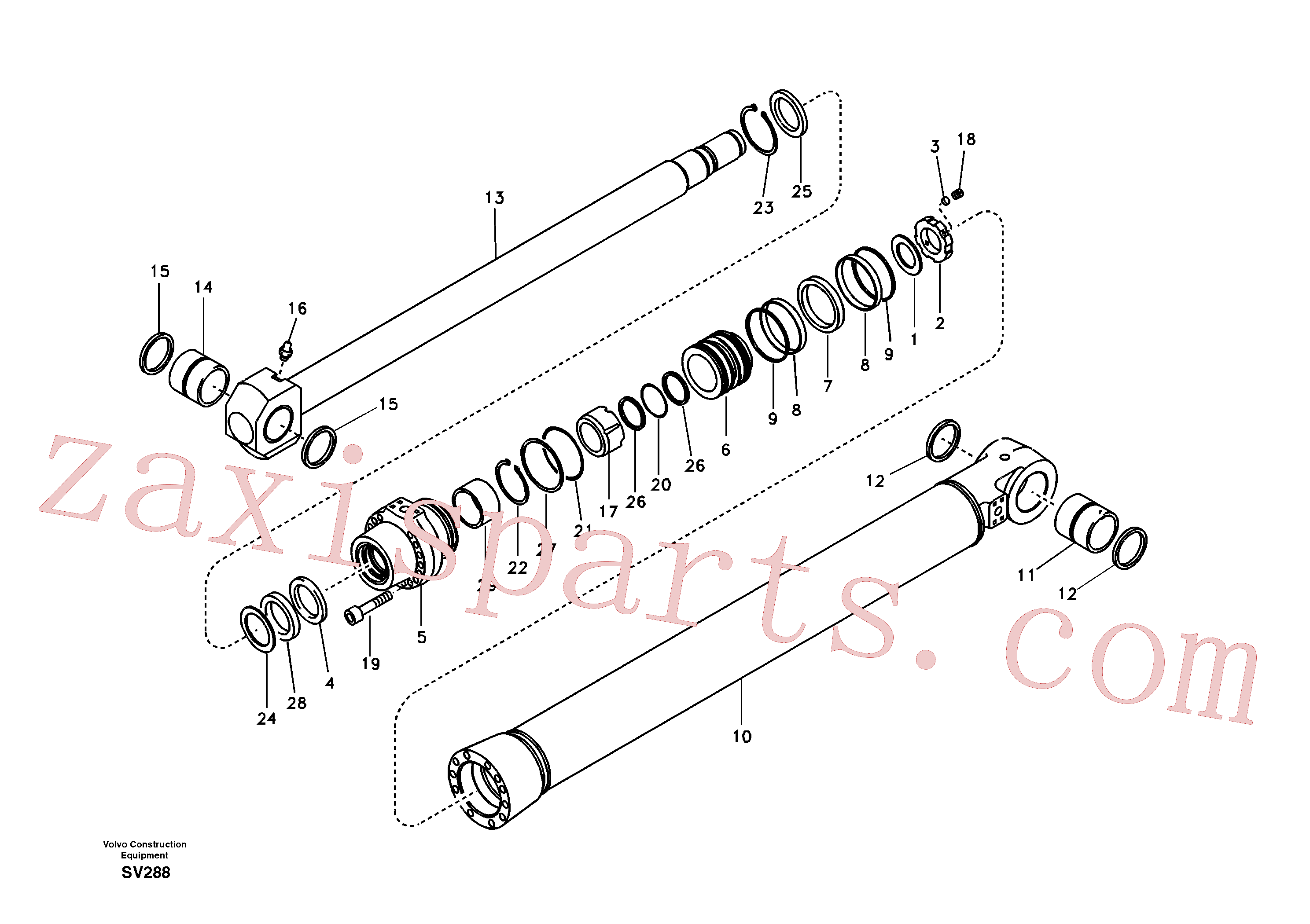 VOE14505617 for Volvo Bucket cylinder(SV288 assembly)