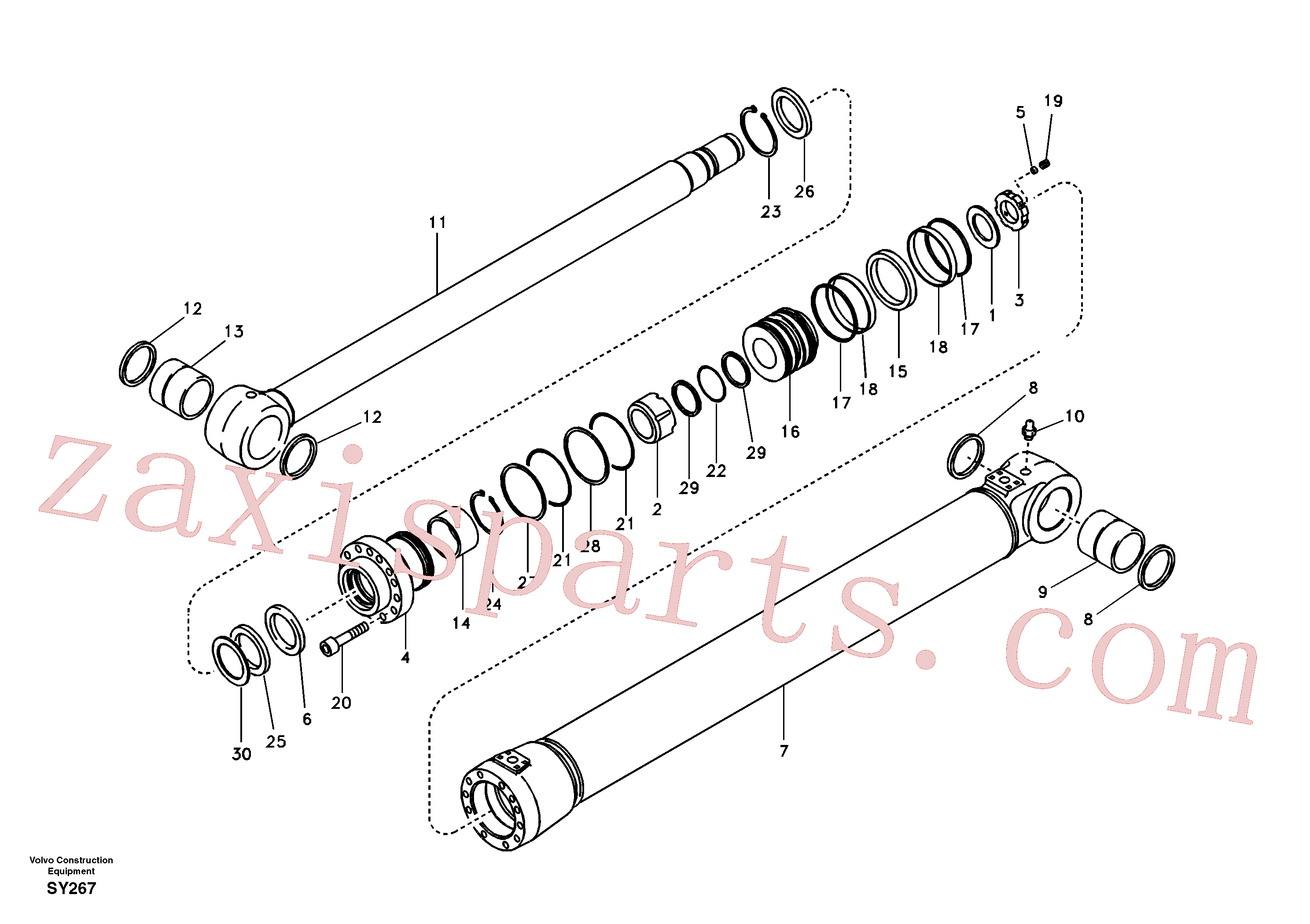 VOE14510424 for Volvo Boom cylinder(SY267 assembly)