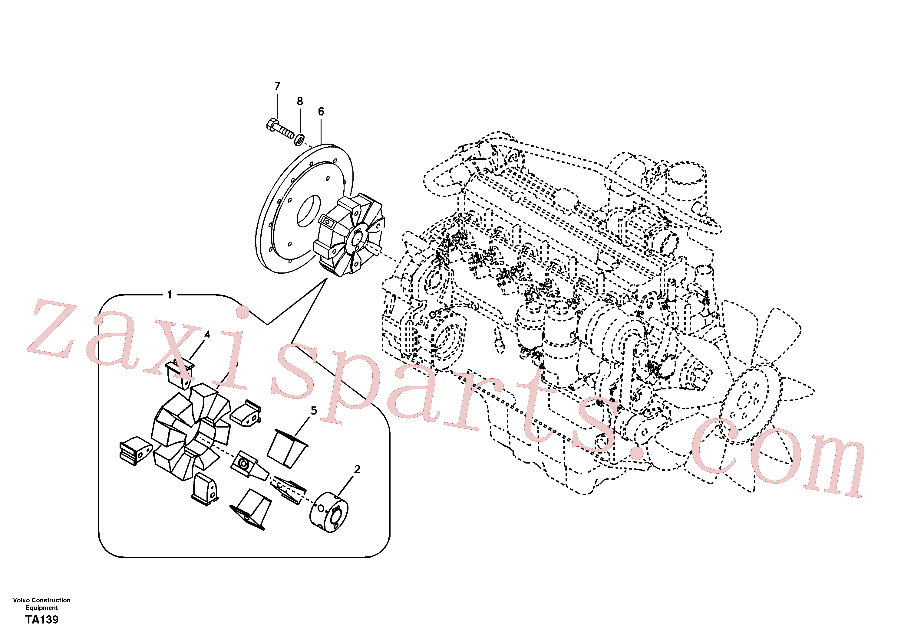 VOE14500140 for Volvo Pump gearbox with assembling parts(TA139 assembly)