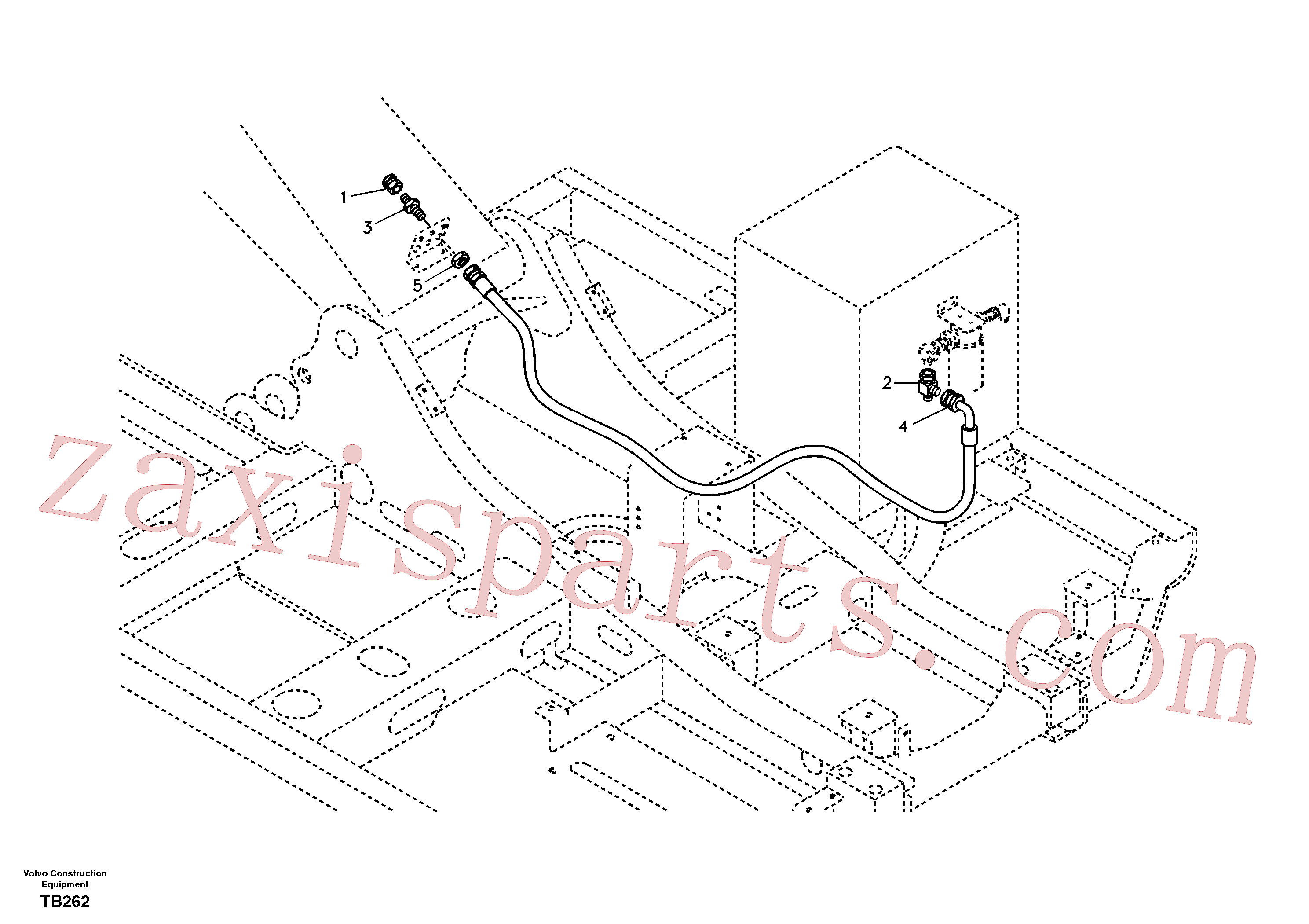 SA9411-91000 for Volvo Working Hydraulic, oil leak on upper frame(TB262 assembly)